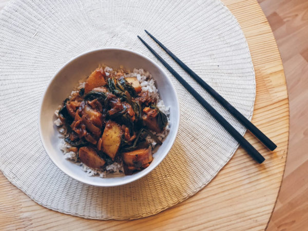 Curry Pommes de Terre et Épinards